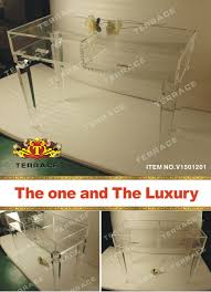 Vanity Salon Merrick Acrylic Vanity Table Instavanity Us