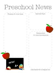 preschool newsletter template 28 images newsletter templates