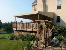 Deck Awning Stationary Awning Installation Chester County Milanese Remodeling