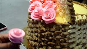 basket of flowers how to make 3d basket of flowers cake