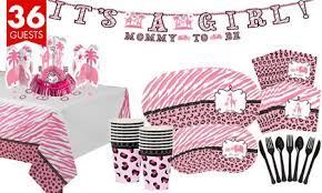 baby shower kits pink safari baby shower party supplies party city