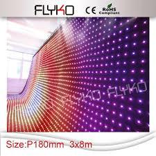 Curtain Vision P18 3x8m Led Video Curtain Dmx Led Vision Curtain Diy Dmx512 50