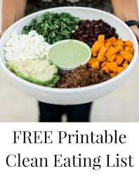 clean eating meal planning free printable grocery list my life