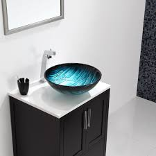 round polished granite infinity vessel sink bathroom can be used