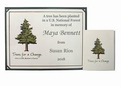 For A Tree Memorial Trees Plant A Tree In Memory Remembrance Gifts