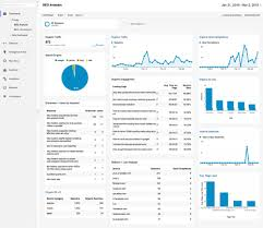 seo report template our free seo dashboard for google analytics 11 reports webris seo analytics dashboard