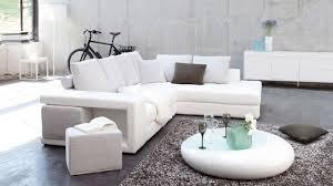 canapé design blanc choisir la couleur de canapé en fonction de appartement