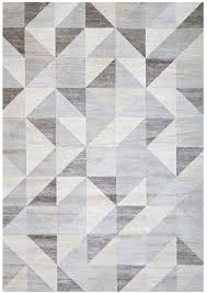 Black Modern Rugs Modern Silver Gray And White Modern Geometric Triangle Pattern Rug