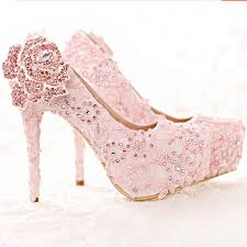 wedding shoes pink aliexpress buy fashion pink lace shoes rhinestone