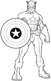 Captain America Color Page Captain Coloring Pages Photos Captain Captain America Coloring Page