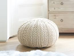 hand knitted pouffe bug loaf