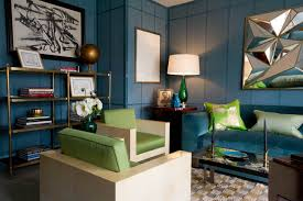 blue and green home decor study brian del toro inc contemporary living room new york