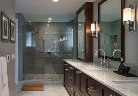 Gray Subway Tile Bathroom by Grey Glass Subway Tile Bathroom Contemporary With Black And White