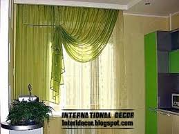 Bright Colored Curtains Interior And Architecture Contemporary Kitchen Curtain Ideas 2014
