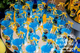 minion birthday party ideas drinks from minions birthday party at kara s party ideas see more