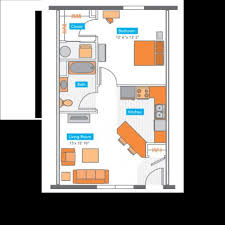 Floorplans Copper Beech Columbia Student Apartments For - One bedroom townhome