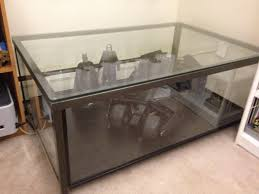 ikea granas coffee table become awesome display case sideshow