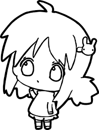 anime thinking coloring page wecoloringpage