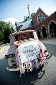 wedding car decorations lovely wedding car decorations classic getaway wedding car with