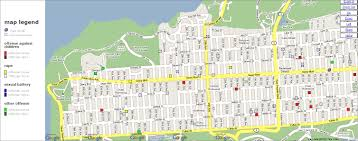 Zip Code Map San Francisco by Mapping Offenders In The Richmond District Richmond District