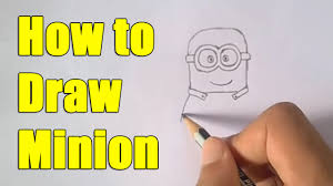 draw minion step step easy