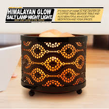 himalayan glow ionic crystal salt basket l natural salt nightlight mosaic basket
