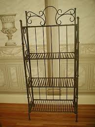 Sei Bakers Rack Rod Iron Bakers Rack Folding Bakers Rack Wrought Iron Pantry
