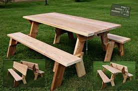 Folding Picnic Table Bench Plans Free by Folding Bench And Picnic Table Combo Free Plans Militariart Com