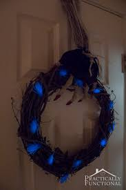 Halloween Wreath Ideas Front Door Diy Glow In The Dark Halloween Wreath