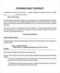 event contract template contract service agreement template