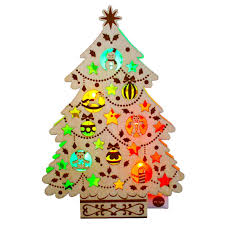 pop up tree wooden christmas tree lights melody pop up greeting
