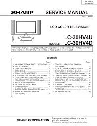 sharp lc c4655u aquos liquid crystal television service manual