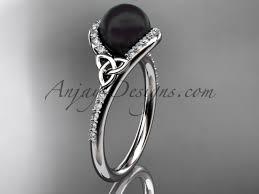 celtic engagement rings pearl celtic engagement rings platinum ring ctbp7317