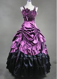 purple sleeveless multi layer victorian dress cheap gothic
