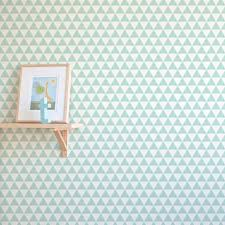 geometric triangle print removable wallpaper for nursery