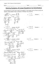 solving systems of linear equations worksheet free worksheets