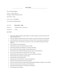 Custodian Resume Skills Housekeeping Resume Sample Berathen Com