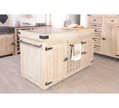 billots de cuisine billot central en pin et marbre 2 portes et range bouteilles cook