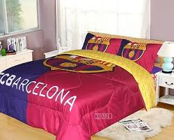 Soccer Comforter Fc Barcelona Soccer Bedding Comforter Set Officially Licensed