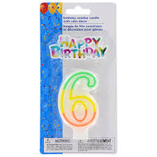 number birthday candles bulk number 6 birthday candles with cake décor 2 pc sets at