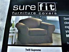 Sure Fit Twill Supreme Chair Slipcover Sure Fit 100 Cotton Chair Slipcovers Ebay