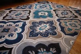 Blue Grey Area Rugs Generations New Contemporary Panel And Diamonds Modern