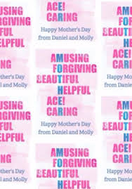 what compliments pink typographic compliments in pink and blue letters mother s day wrap