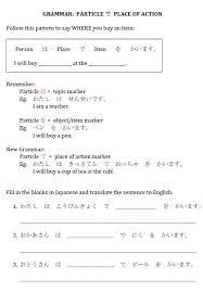 sentence pattern in english grammar particles japanese teaching ideas