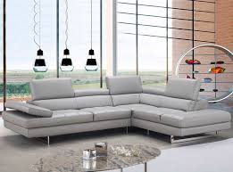 Gray Leather Sectional Sofa by Aurora Leather Sectional Sofa By J U0026m Furniture 2 455 00