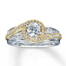 jared jewelers reviews jared diamond engagement ring 7 8 ct tw round cut 14k two tone gold