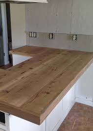 Putting Trim On Cabinets by Diy Reclaimed Wood Countertop Averie Lane Diy Reclaimed Wood