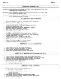 Sample Of Resume For Teachers Sample Resume For Teacher To Principal Templates