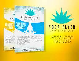 yoga flyer template free stackerx info