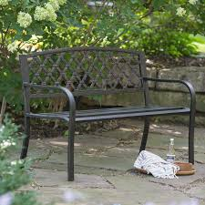 Rustic Outdoor Bench by Coral Coast Amherst Curved Back 5 Ft Outdoor Wood Garden Bench